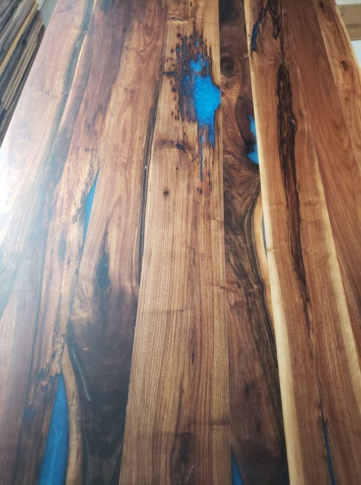 table bois epoxy