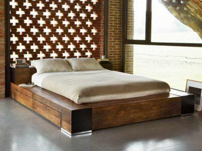lits en bois massif